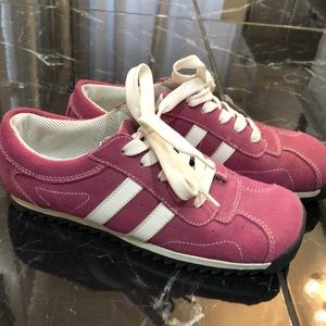 Steve Madden pink suede sneakers